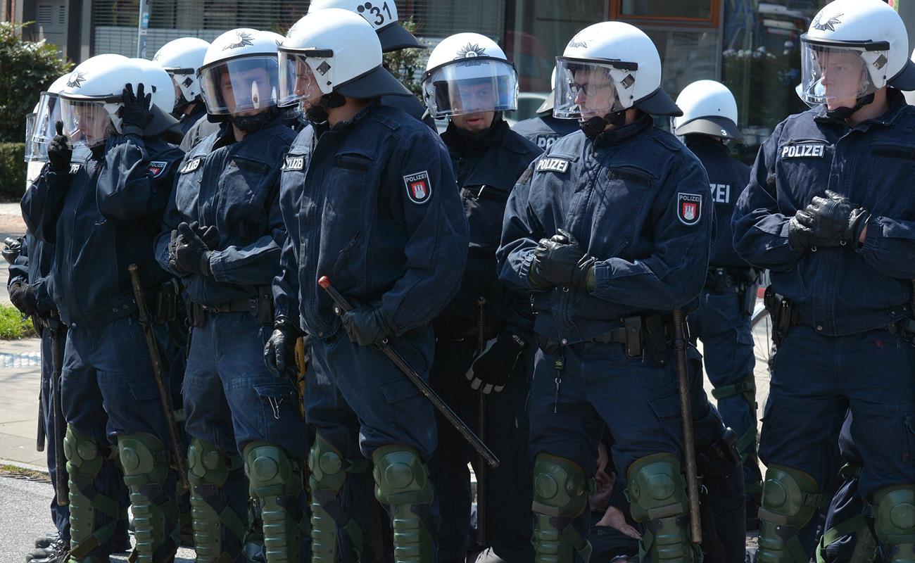 Pressekonferenz Polizei Hamburg